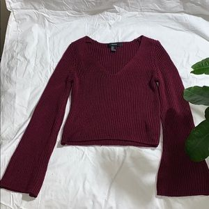 Burgundy wide arm sweater